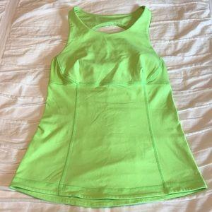 Lululemon Swank Tank zippy Green size 6. Open back